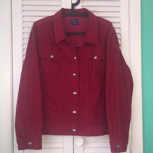 Lightweight stretch velvet feel jacket